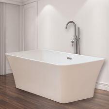 Woodbridge 67'' Freestanding Bathtub  B-0004 with overflow & drain brush nickel