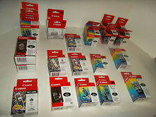 LOT-24 NEW Canon OEM Ink Cartridges BCI-6PM BC-10 BCI-21 BCI-6BK BCI-21e CL-211