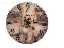 Orologio Sveglia a Parete Marilyn  Orologio a muro vetro rotondo a batterie