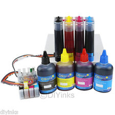 Continous Bulk Ink System and Refill Ink Bottle Set Epson Workforce WF-2540 T200