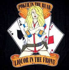 Poker In The Rear Liquor In The Front Triple Aces Wall Banner