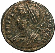 Constantine I The Great founds Constantinople Ancient Roman Coin Nike i34718