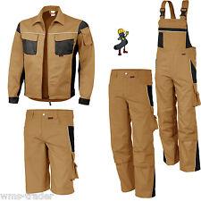 Arbeitslatzhose Arbeitshose Arbeitsjacke Short Arbeitsbekleidung khaki Übergröße