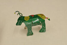 Toy Long Horn Cow African Recycle Tin Can Tanzania Handmade Vintage Toy