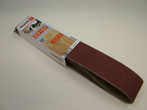 Sanding belts 50 x 686mm medium 120 grit pack of 3 belts, fit Draper, Sealey etc