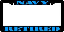 NAVY RETIRED blue VETERAN License Plate Frame