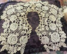 Estate Vintage Clothing, Fine Victorian Antique Lace Ladies Collar