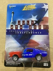 Johnny Lightning Celebrating 4th July Independence Day 2000 Ford Mustang