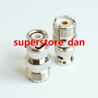 10X UHF Female SO-239 PL-259 plug to BNC Male jack RF coaxial adapter connector