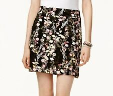 10d3aea69 Inc Womens 1549 Black Pink Floral Above The Knee A-line Skirt 12 B B