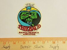 VTG 80's SANTA CRUZ JIM THIEBAUD SUPER HERO MISPRINT NOS SKATEBOARD DECK STICKER