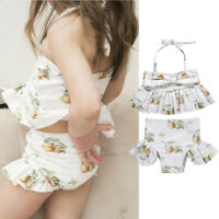 Toddler Kids Baby Girl Bowknot Cute Swimwear Swimsuit Bikini Bathing Tankini Set