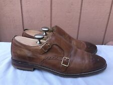 Cole Haan Cambridge Double Monk Men Brown Leather Oaxford Loafer Shoes US 10M A1