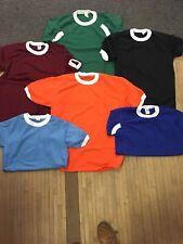 Vintage 70s Sportswear Polyester Ringer Tee Round Neck Mesh Shirt/jersey Usa Mad