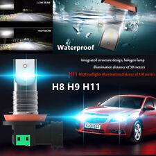 Pair CSP H8 H9 H11 Car LED Headlight Lamp Conversion Kit Bulb 110W 30000LM 6000K