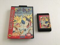 THE REN& STIMPY SHOW:PRESENTS STIMPY'S INVENTION -SEGA GENESIS GAME AND BOX ONLY