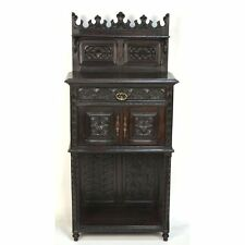 Antique Carved Chestnut French Neo Gothic Diminuative Cabinet / Night Stand