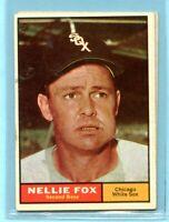 1961 Topps #30  Nellie Fox   (EX) -- Chicago White Sox  Lot 717