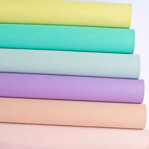 New Pastel Glitter Faux Suede Fabric for Crafts & Bows A4 Sheets Faux Leather