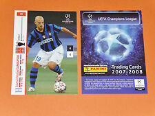 CAMBIASSO ARGENTINA INTER MILAN FOOTBALL CARDS PANINI CHAMPIONS LEAGUE 2007-2008