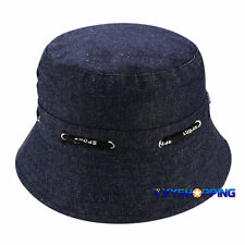 Mens Womens Bucket Hat Boonie Flat Hiking Summer Beach Cap Fisherman Outdoor Hat