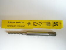 3mm Extra Larga Serie Molino de Extremo 4 FLAUTA HSS Hydra