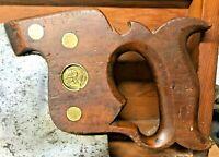 H. Disston No. 8 Crosscut Saw - 5 TPI, Split Nut Handsaw, Pre-1860 Medallion