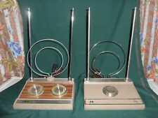 LOT OF 2 VTG RETRO TV VHF UHF TUNER ANTENNAS RABBIT EARS RCA & KMART TELEVISION