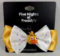 Five Nights At Freddy's Fazbears Pizza Chica Costume Cosplay Hair Bow W/3D Charm