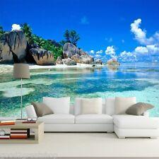 Wallpaper 3D Bedroom Living Decor Art Mural Decal Wall paper Ocean Sea Beach