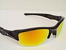 Authentic Oakley Flak XLJ Polished Black Fire Iridium Polarized Wrap Sunglasses