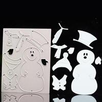 Schneemann Stencil Cutting Dies DIY Scrapbook Karte Tagebuch Stanzschablone Neu.