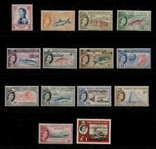 TURKS AND CAICOS ************************ 1957-1960 MINT SHORT SET