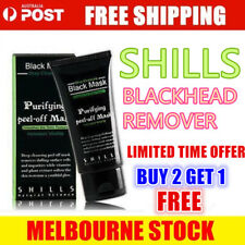 AU Blackhead Remover Nose Face Mask Strip Black Head Pore Acne Clean Mud / Brush