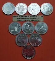 10 monedas 12 EUROS 2002 2003 2004 2005 2006 2007 2008 2009 2010 PLATA SC España