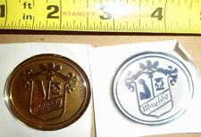 PAIR OF VINTAGE MAYTAG WASHING MACHINE APPLIANCE ADVERTISING TAG EMBLEMS LABELS+