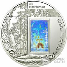 SHROUD OF TURIN Hologram Silver Coin 1000 Francs Cameroon 2010