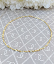 """Fine 9ct Yellow Gold Singapore Style Anklet / Ankle Bracelet 9"""""""