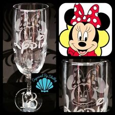 Personalised Disney Minnie Mouse Champagne Flute Prosecco Glass Birthday Gift