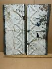 """2pc Lot of 24"""" by 10.5"""" Antique Ceiling Tin Metal Reclaimed Salvage Art Craft"""