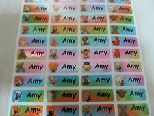 300 Bear Sparkle Personalized Waterproof Name Stickers 0.9 x 2.2 cm Customized