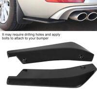 2 pcs Car Rear Bumper Lip Anti-crash Spoiler Canard Diffuser Wrap Angle Splitter