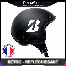 Kit 4 Stickers Retro Reflechissant Bridgestone - Casque Moto autocollant, ref2
