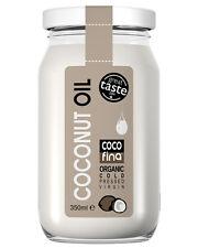 Organic Coconut Oil 350ml, Cold pressed Virgin, Unrefined - Natural - Fast FREE