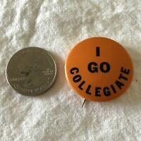 I Go Collegiate College Vintage St Louis Button Co. Pinback Button #37465