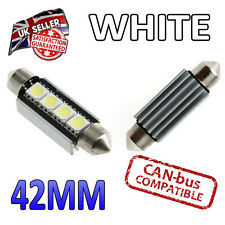 2 X 42mm LED blanco CANBUS Festoon matrícula interior 4 SMD 264 Bombillas