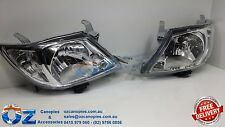 TOYOTA HILUX Head lights Headlamps NEW PAIR left & right 04/2005 to 08/2011
