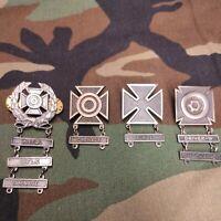 Army Abzeichen Schützenabzeichen Konvolut  Metall 4 Paare mit Gratifikationen