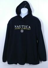 Vintage Nautica Hoodie Sweatshirt L Large Fleece Spell Out 80s 90s Competition