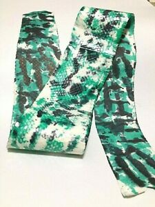 Spalash Genuine Snake Skin Hide Leather Snakeskin Craft Supply Metal-free Green